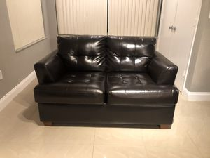 Chocolate brown sofa bed and love seat for Sale in Fort Lauderdale, FL
