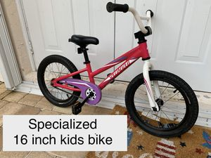 Specialized 16in kids bike in excellent condition for Sale in Sunrise, FL