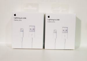iPhone 2m USB Cable set of 2 for Sale in Canyon Country, CA