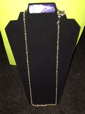 Gold plated Rope chain for Sale in Milwaukee, WI