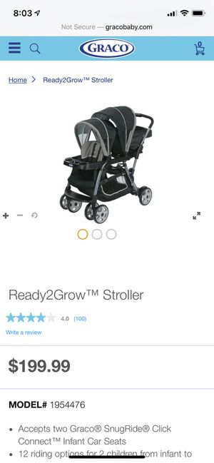 graco ready2grow double stroller for Sale in Casa Grande, AZ