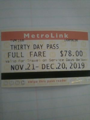 Bus Pass (Nov 21-Dec 20) for Sale in St. Louis, MO