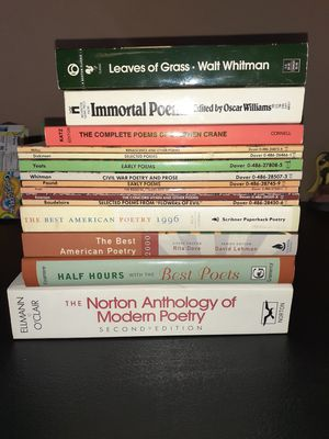 Lot of 15 poetry books for Sale in Mesa, AZ