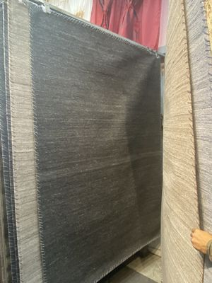 5x8 dark grey charcoal plain jute rug durable high density non slide non shedding carpet for Sale in Los Angeles, CA