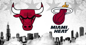 Chicago Bulls Vs. Miami Heat (Amazing Sears- Behind Heat Bench) for Sale in Chicago, IL