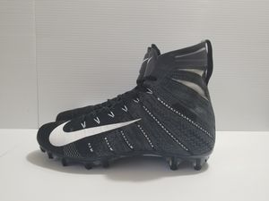 55da9da50c61 Men s Nike Vapor Untouchable 3 Elite Knit Black White Grey Football Cleats  AH7409 010 for Sale