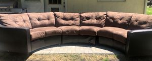 Round sectional couch for Sale in Alexandria, VA
