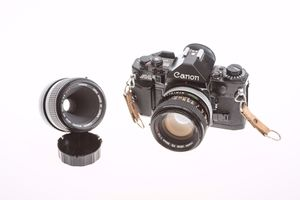 Excellent Condition Canon A-1 35mm Film Camera with Lenses!! for Sale in Boston, MA