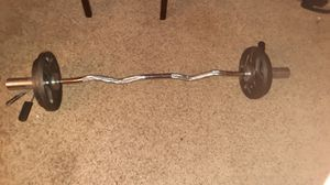 Olympic curl bar for Sale in Orlando, FL