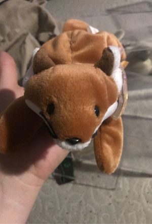 Sly 1996 beanie baby with tags and case water mark on tag w errors for Sale in Las Vegas, NV