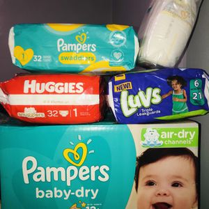 Diapers Bundle Size 1, 2 & 6 for Sale in Staten Island, NY