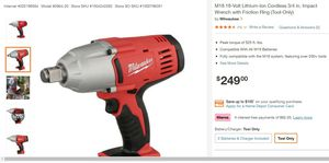 Used Milwaukee m18 impact wrench with battery for Sale in Chicago, IL