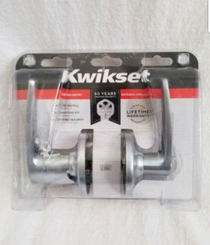 Kwikset Delta Entry Lever in Satin Nickel New, PRICE IS NOT NEGOTIABLE for Sale in Palatine, IL
