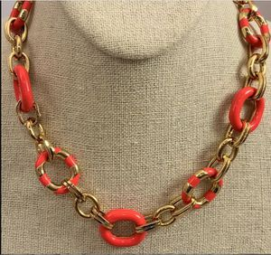 Kate Spade Coral & Goldtone Link Necklace for Sale in Roswell, GA