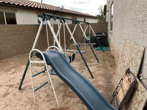 Kids swing set and slide for Sale in Laveen Village, AZ