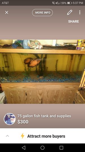 75 gallon tank and stand for Sale in Waterloo, IA
