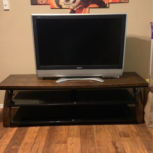 Glass 2-Piece TV Stand for Sale in Gresham, OR