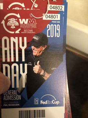 10 any day tickets for the waste management open for Sale in Scottsdale, AZ