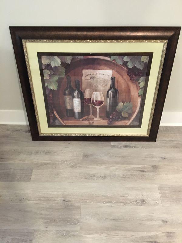 Framed Vintage Winery Scene Print