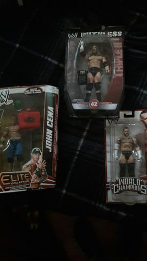 WWE 3 action figure collectables!!! for Sale in Sumner, WA