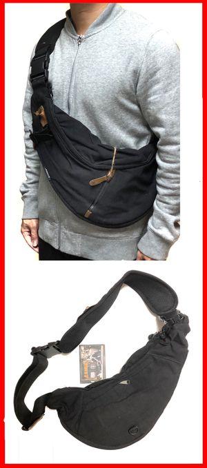NEW! Canvas Side Bag Crossbody Sling Bag messenger backpack gym bag cell phone tablet holder wallet school bag work chest bag for Sale in Carson, CA