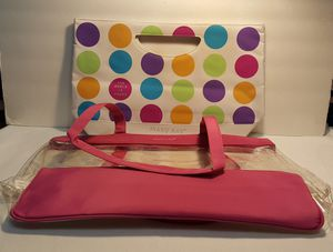 New Mary Kay Double Tote Beach Bag clear plastic and multi dotted inner Tote. for Sale in Miami, FL