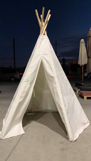New in box 5.5 ft Kids Cotton play house Canvas Teepee Playhouse Sleeping Dome Play Tipi Tent for Sale in Covina, CA