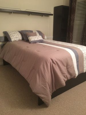 Full size bed with bookshelve and stand. for Sale in Silver Spring, MD