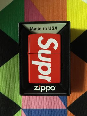 Supreme Logo Zippo Red Lighter - SS18 for Sale in Fair Oaks, CA