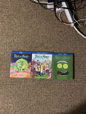 Rick and Morty Blu-ray Seasons 1-3 for Sale in Revere, MA