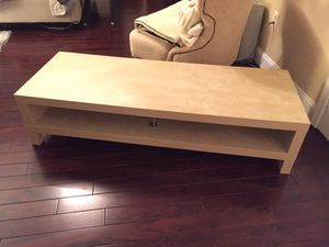 IKEA birch coffee table or entertainment tv stand for Sale in Alexandria, VA