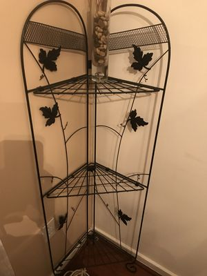 Corner Plant holders have 3 shelves. I have 2 of these. 10$ each for Sale in Clinton, MD