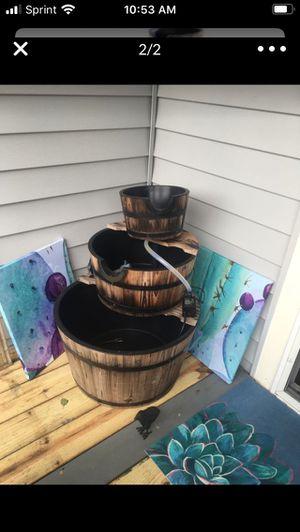 3 Tier barrel water fountain for Sale in Virginia Beach, VA