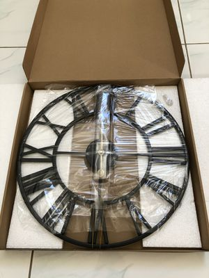 BRAND NEW Decor Wall Clock, European Retro Clock with Large Roman Numerals, Indoor Silent Battery Operated Metal Clock for Home, Living Room, Kitchen for Sale in Garden Grove, CA