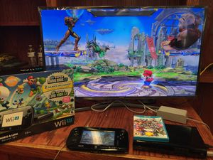 Nintendo Wii U + 7 games with original box for Sale in Austin, TX