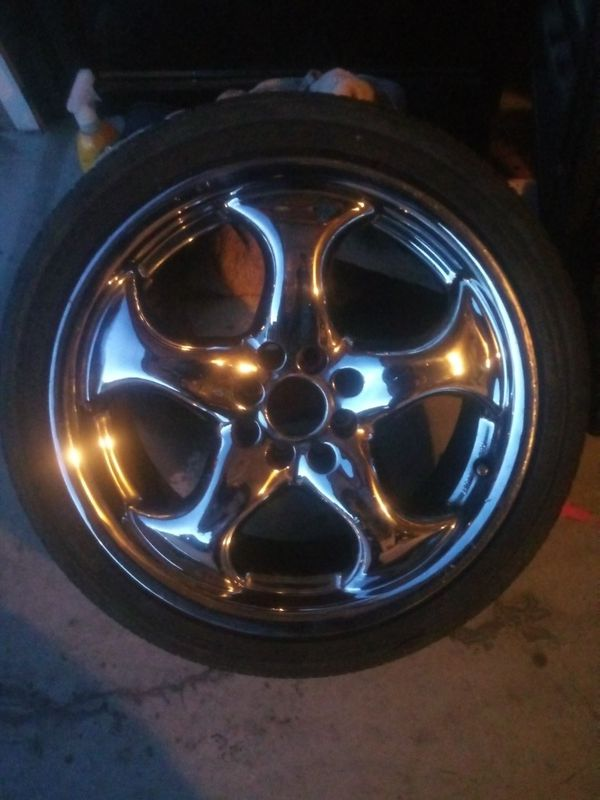 Universal lug chrome rims and tires (read discription)