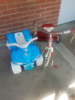 TRICYCLE AND FROZEN CAR for Sale in Denver, CO