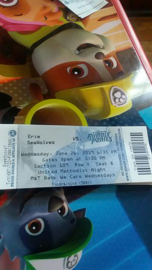 Rumble ponies tickets for Sale in Endicott, NY