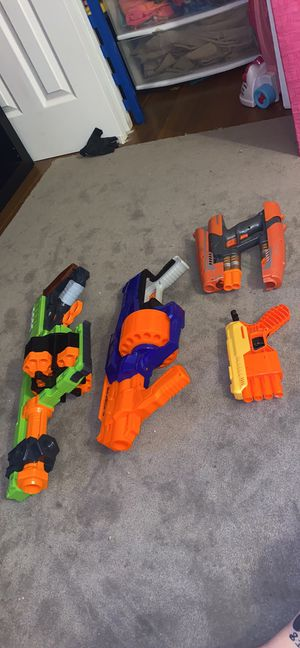 4 nerf guns for $40 for Sale in Winter Garden, FL