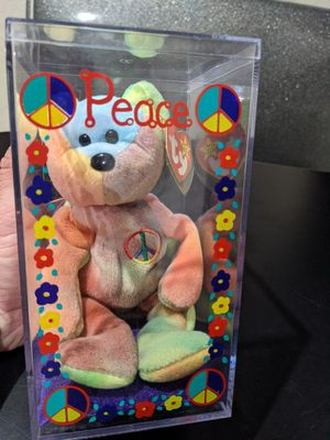 VERY RARE PEACE #4053 BEANIE BABY MWMT GREAT COLORS!! Unique case LOOK👀 for Sale in Queen Creek, AZ