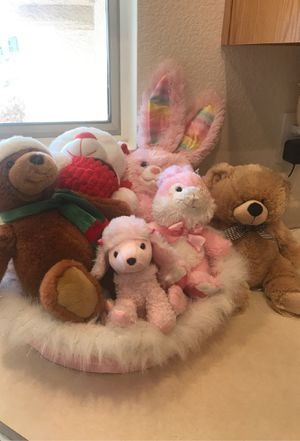 Build a bear rabbit and bed 2008 bunny with mix of stuffed. Toys. for Sale in Henderson, NV