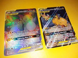 Pokemon cards alolan Raichu hyper rare for Sale in Philadelphia, PA
