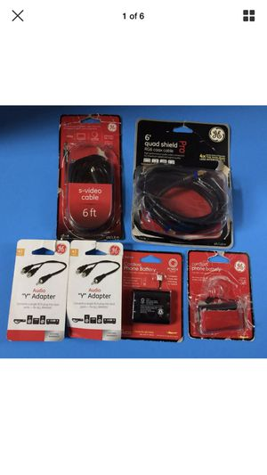 Video cables, adapters, phone battery for Sale in Manassas, VA