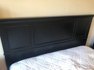 Mattress & Box spring , bed frame, head board, 2 night stands, and two lamps for Sale in San Diego, CA