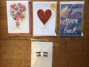 Lot of four 3D handmade Valentines cards (F) for Sale in Hyattsville, MD