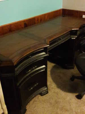 MUST GO! MAKE AN OFFER! Beautiful solid wood desk from Carol House. Farmhouse style rustic. for Sale in Arnold, MO