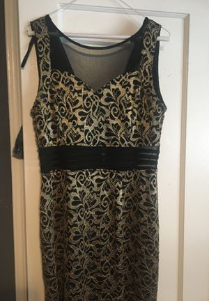 Black and gold Allegan long dress for Sale in El Monte, CA