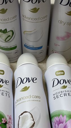NEW DOVE DEODORANTS DRY SPRAY GO FRESH/ 48HR FRESH & CLEAN ADVANCED CARE for Sale in Tacoma,  WA