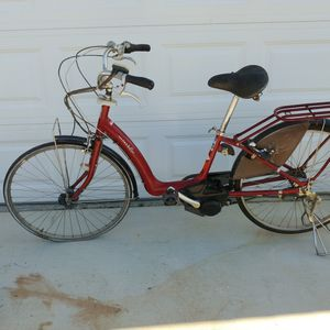 Vintage Rare Yamaha Pas Raffini Electric Bicycle City E-Bike Beach Cruiser for Sale in Oak Hills, CA
