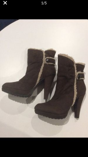 Colin Stuart UGG Style Chocolate Brown Fleece Lined Boots 7.5 M Brand New Never Worn No Box for Sale in Las Vegas, NV